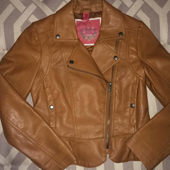 82aaf3277123e B Collection Jackets & Coats | Girls Faux Leather Jacket With Peplum ...